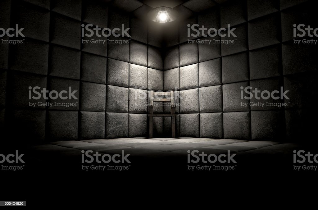 Padded Cell And Empty Chair stock photo