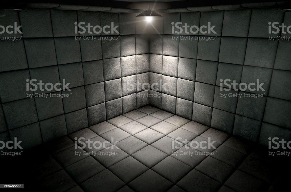 Padded Cell Dirty Spotlight stock photo