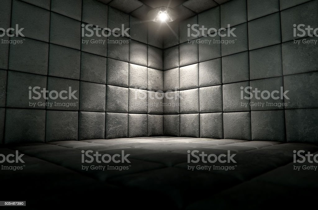 Padded Cell Dirty Spotlight stock photo