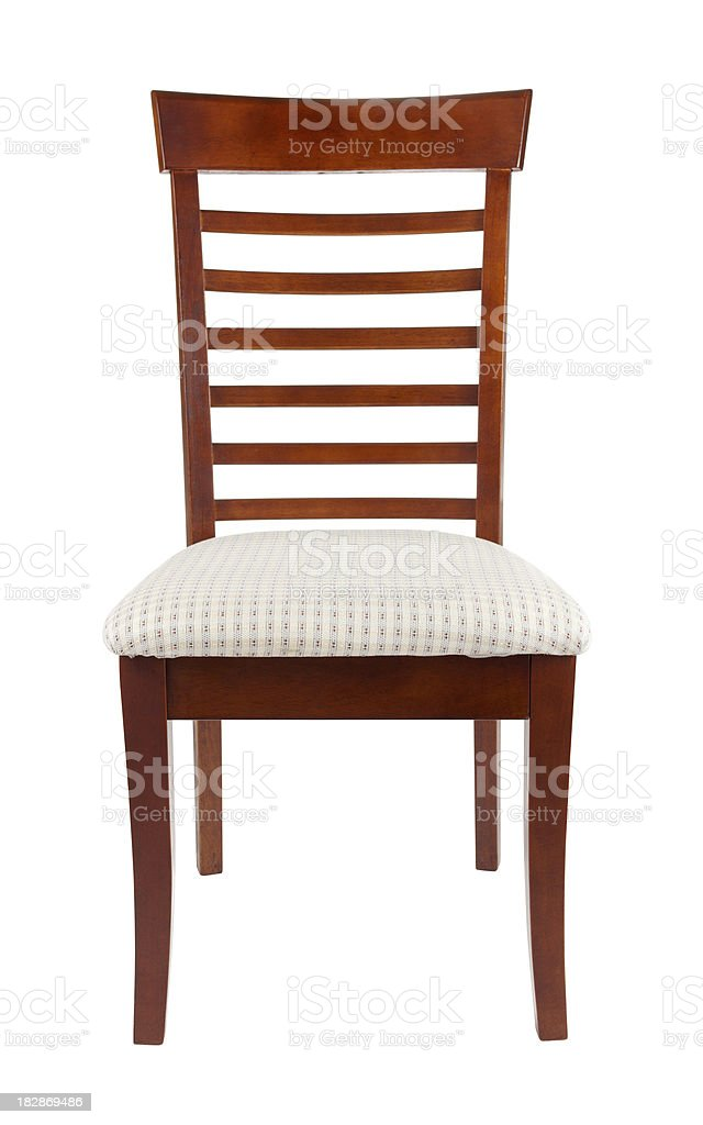 Padded Dining Room Chair stock photo