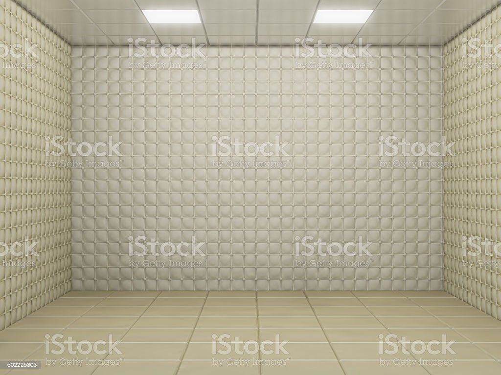 padded room stock photo