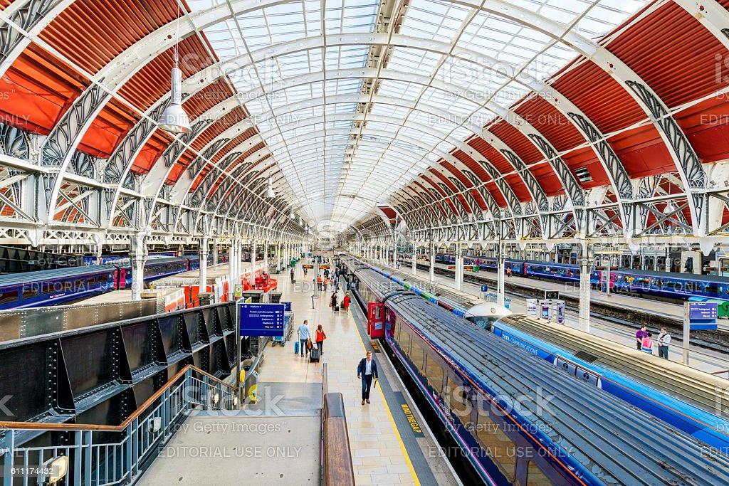 Paddington station architecture stock photo