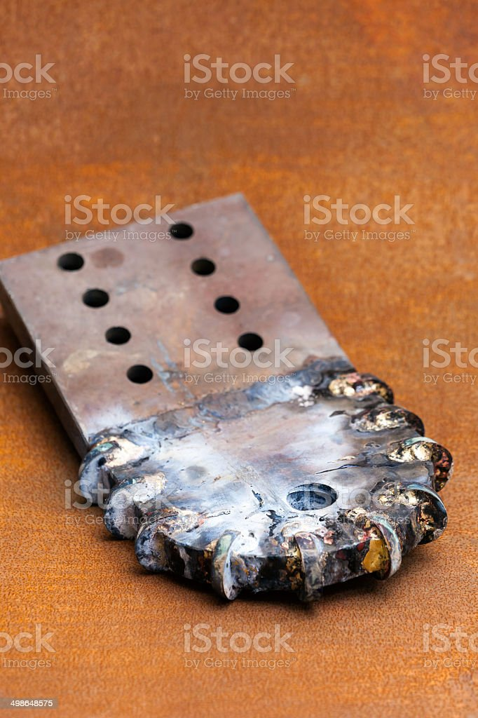Paddle Bits: for Directional Drilling Machine stock photo