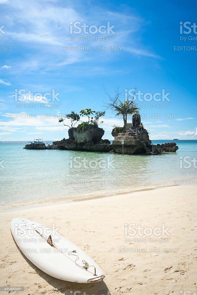 paddle board boracay white beach philippines royalty-free stock photo