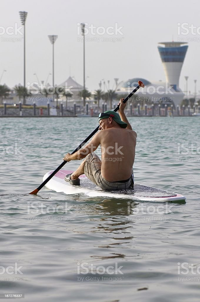 Paddle boarding royalty-free stock photo