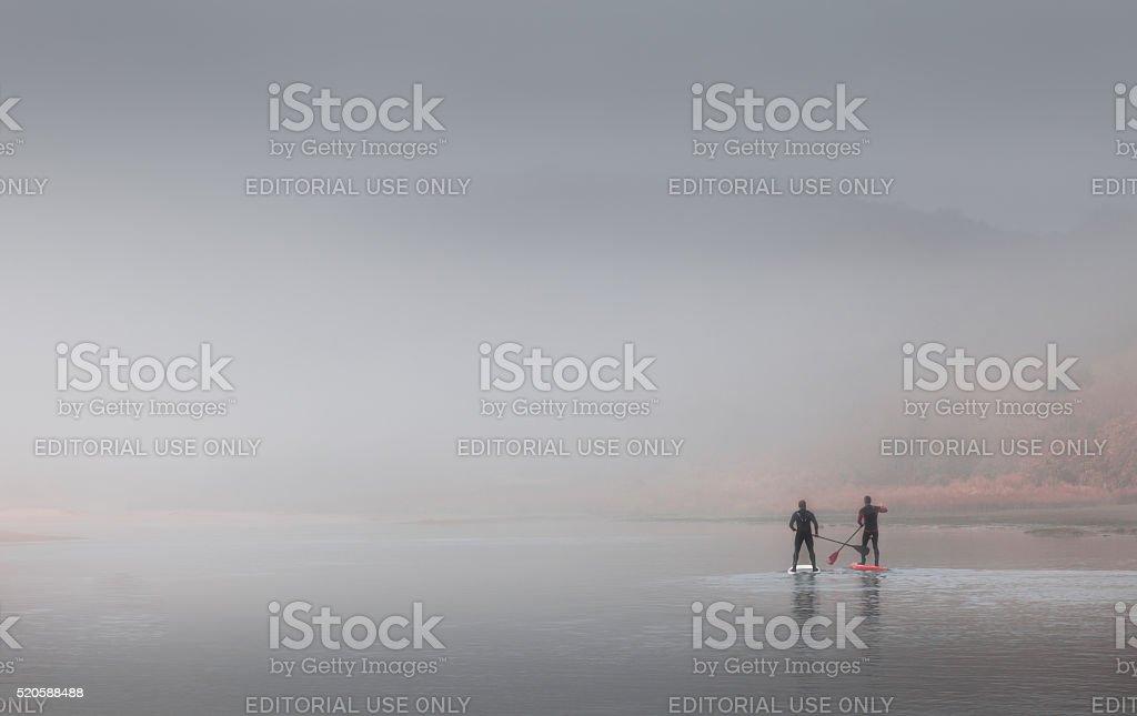 paddle boarding stock photo
