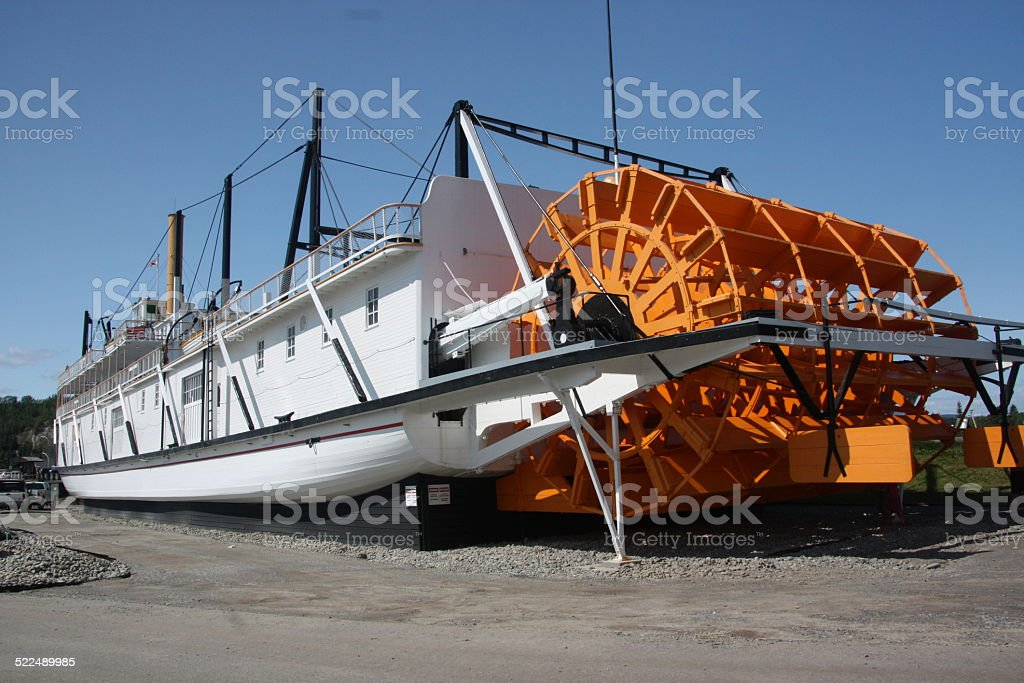 Paddle Boat, Whitehorse, Yukon stock photo