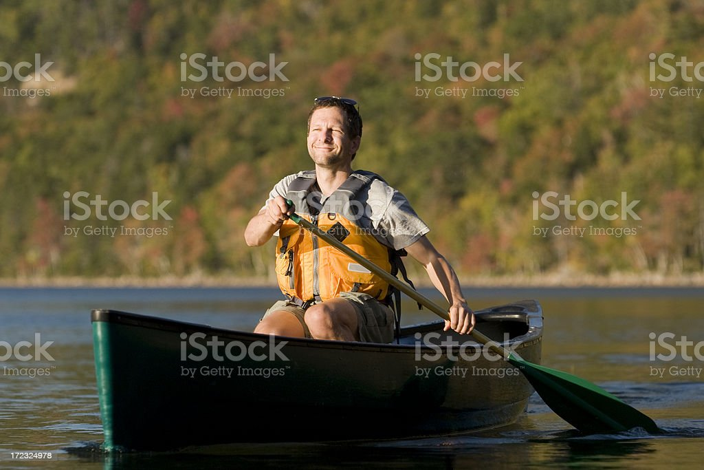 Paddle Maine royalty-free stock photo