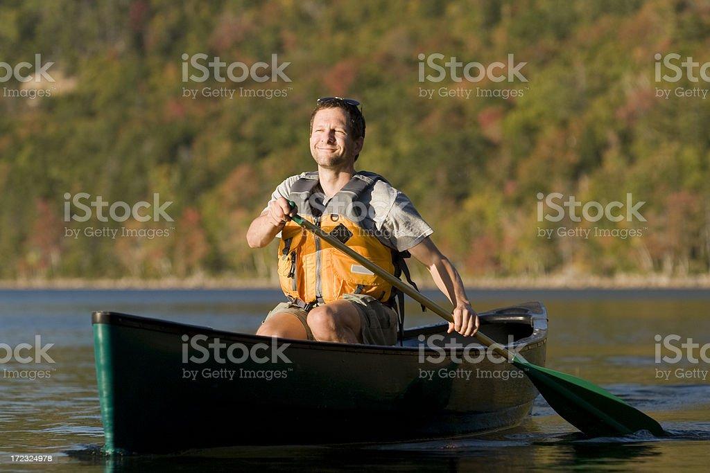 Paddle Maine stock photo