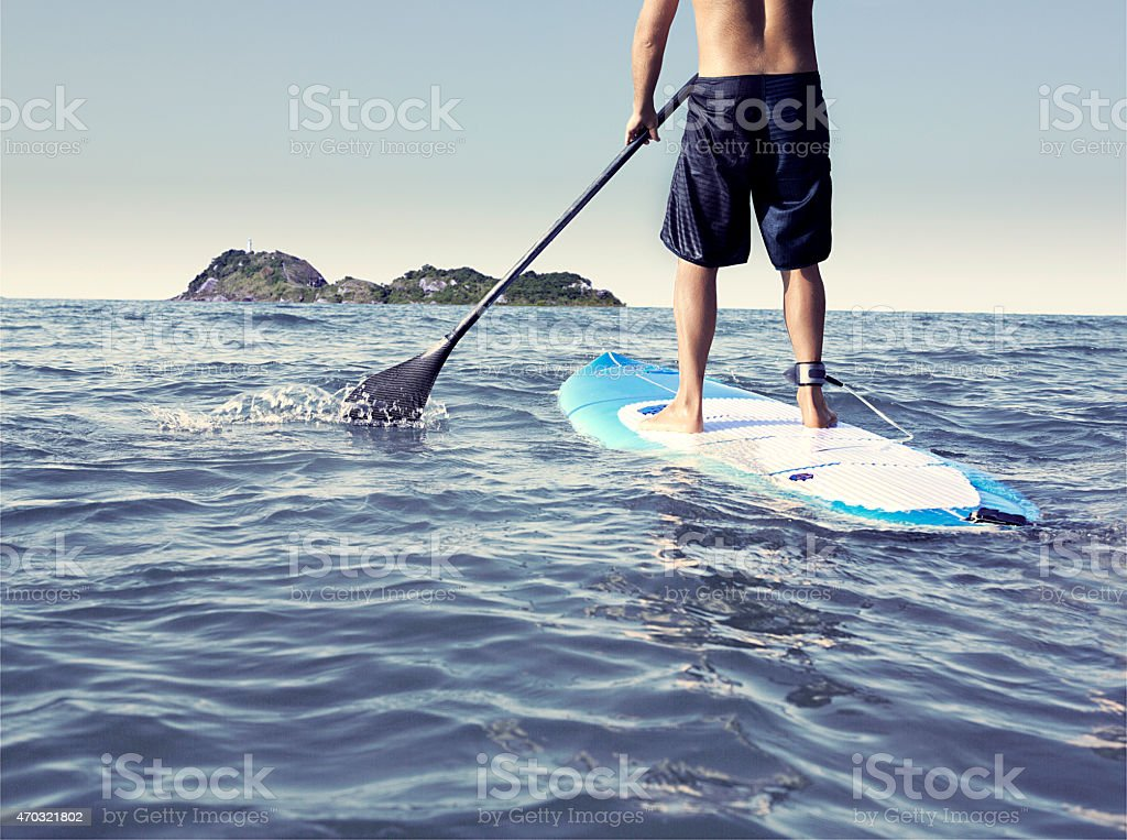 paddle stand up stock photo