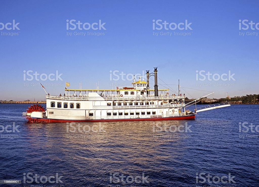 Paddle steamer, New Orleans, USA. stock photo
