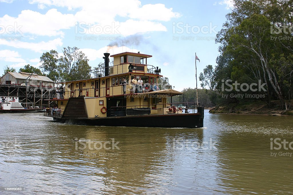 Paddle steamer stock photo