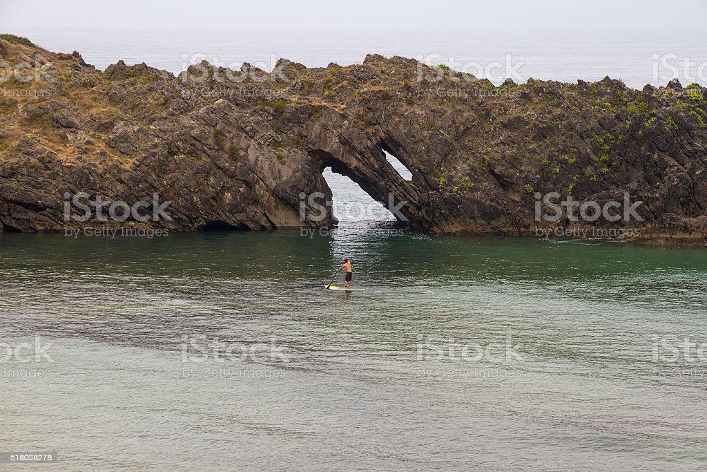 Paddle Surf - Surf de Remo stock photo