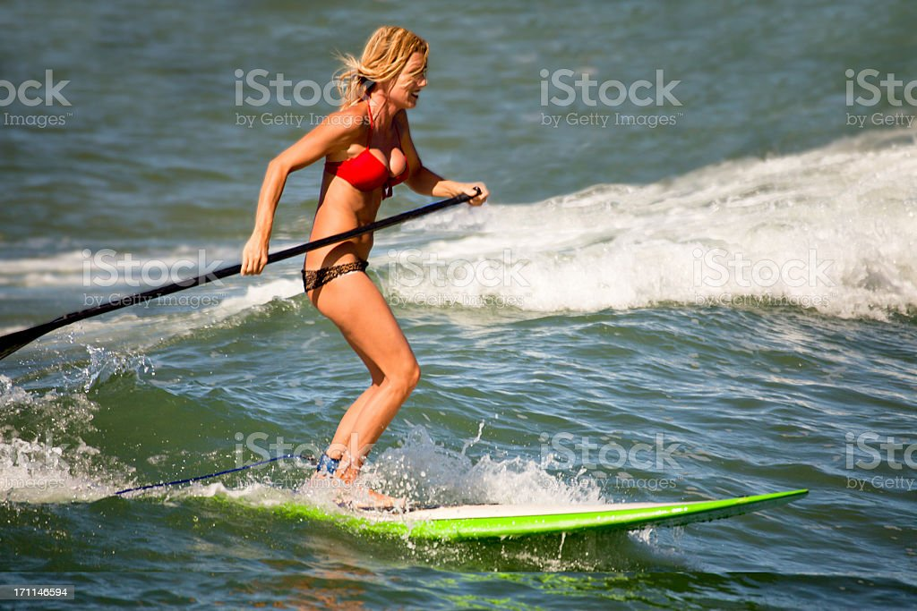 Paddle Surfer royalty-free stock photo