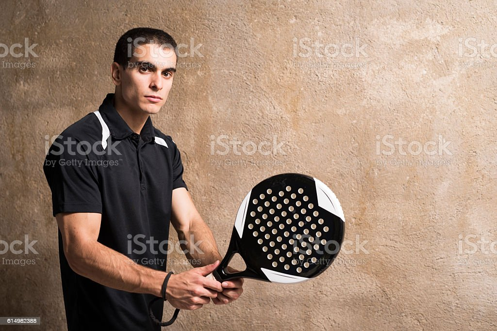 paddle tenis player stock photo