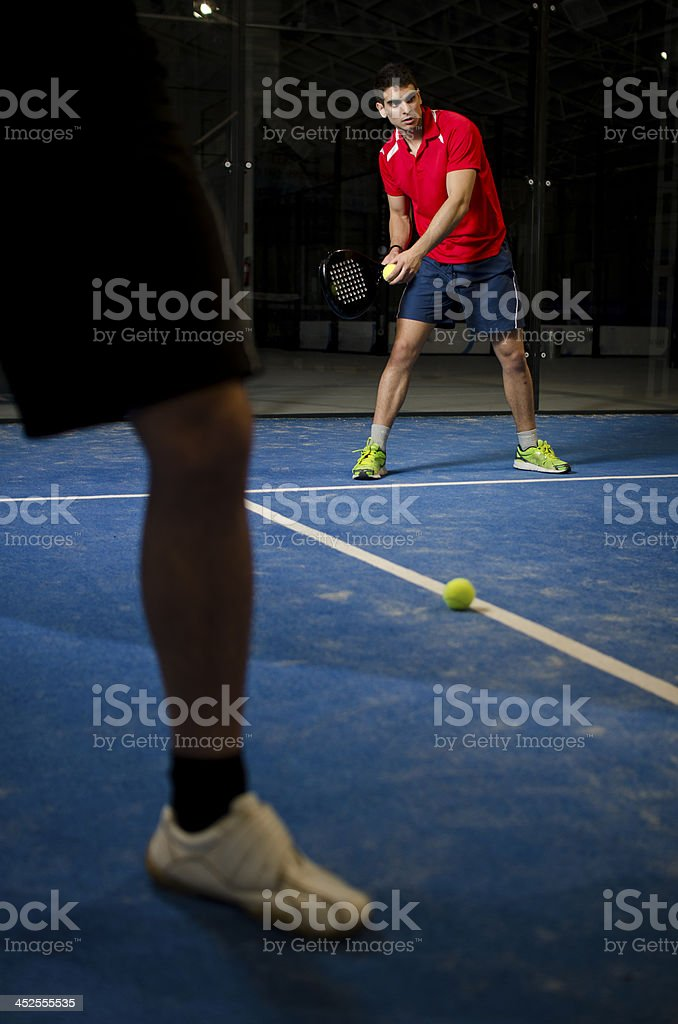 Paddle tennis couple royalty-free stock photo