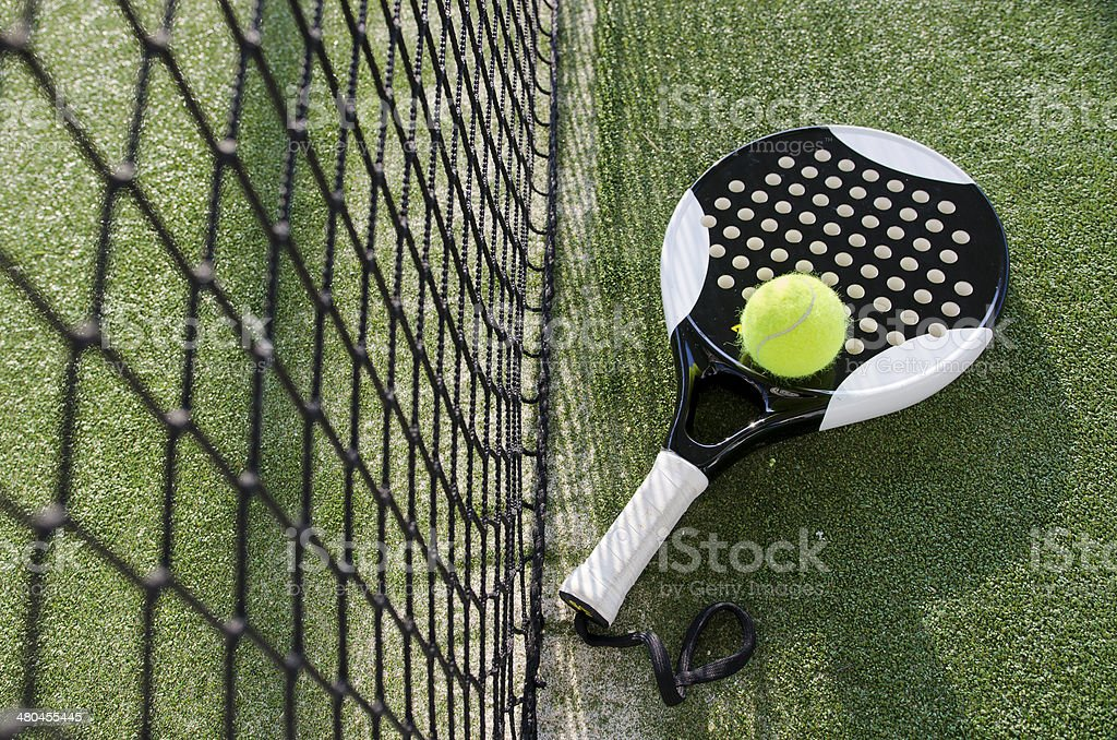 Paddle tennis objects stock photo
