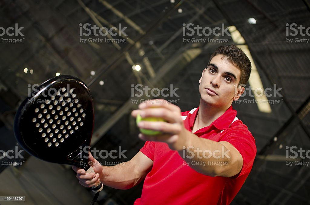 Paddle tennis player royalty-free stock photo