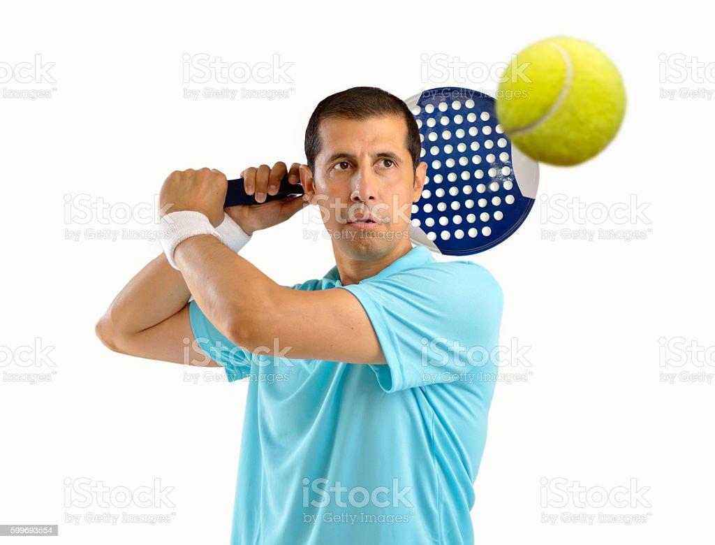 paddle tennis player stock photo