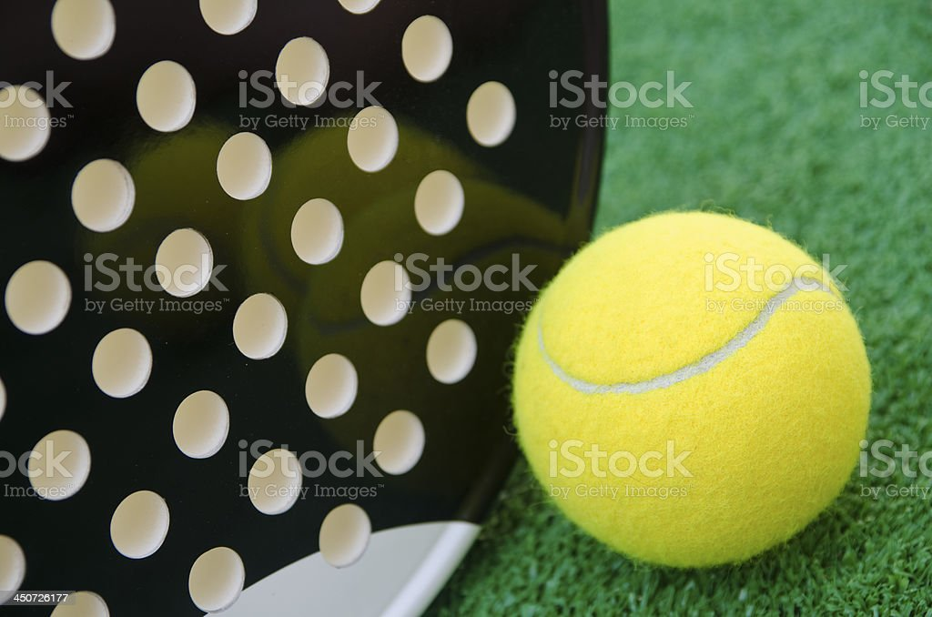 Paddle tennis time! stock photo