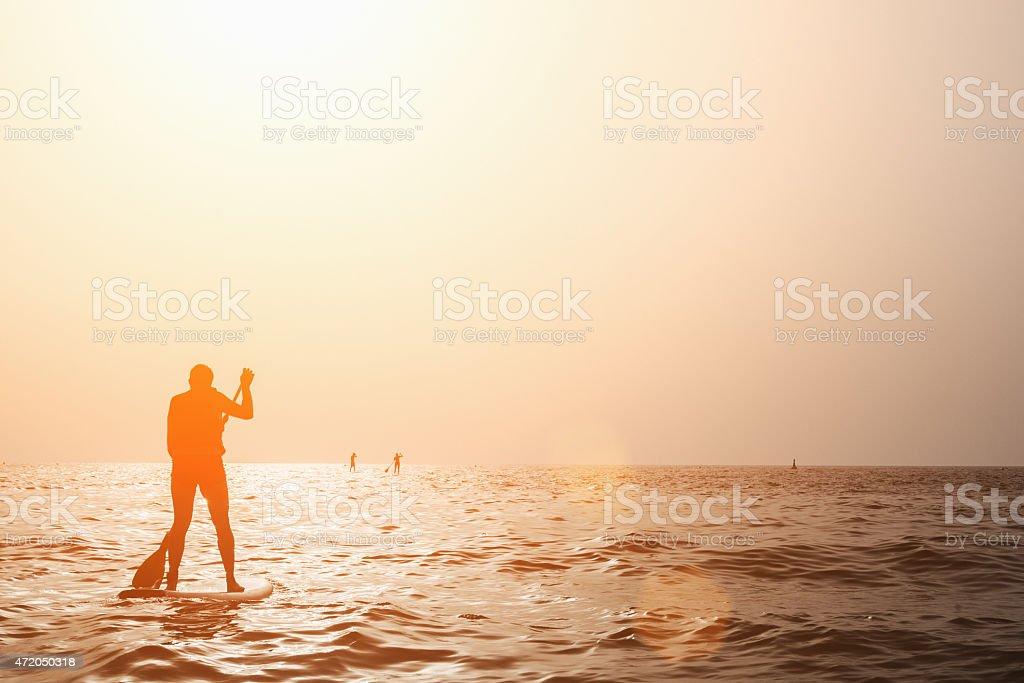 Paddleboarding stock photo