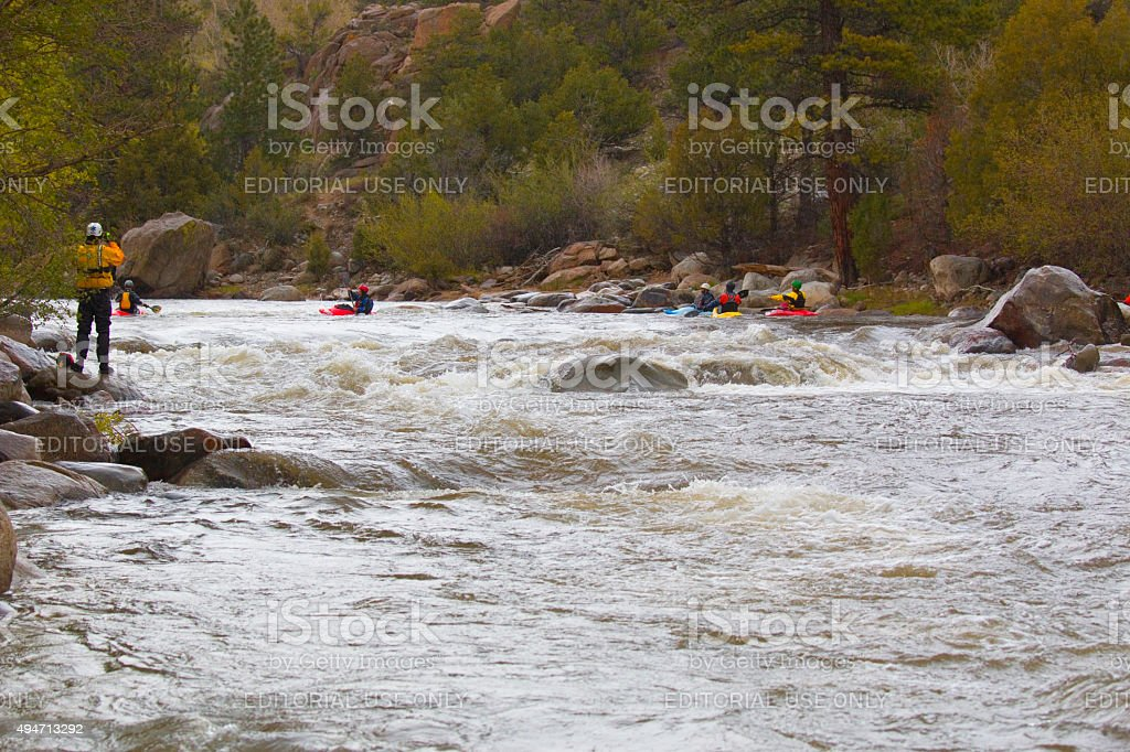 Paddlefest on the Arkansas River in Buena Vista Colorado stock photo