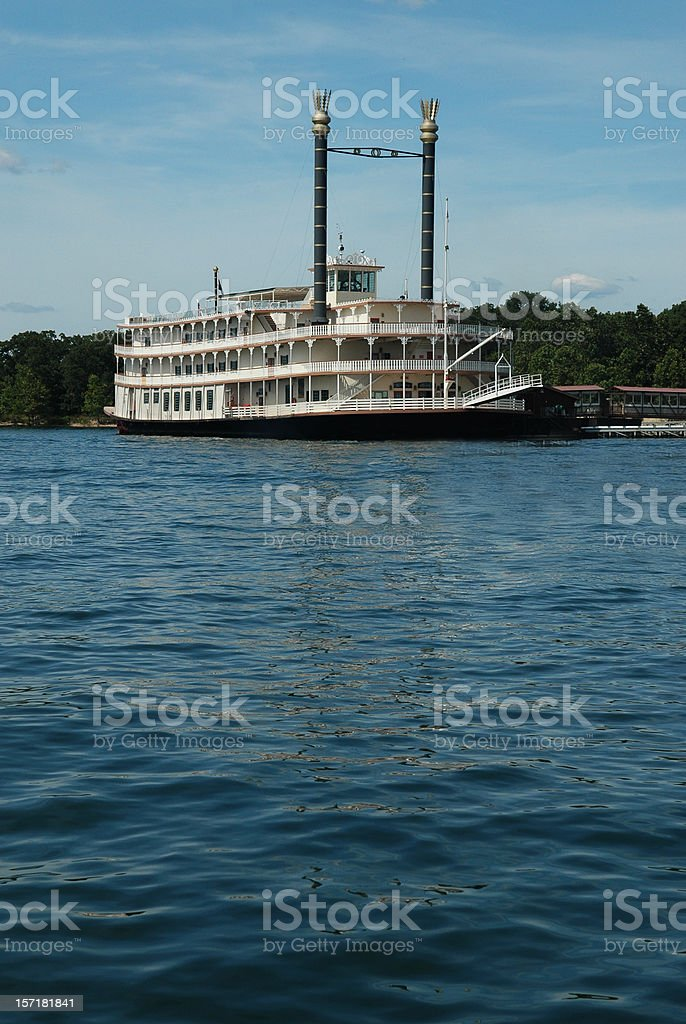 Paddlewheel on the Water royalty-free stock photo