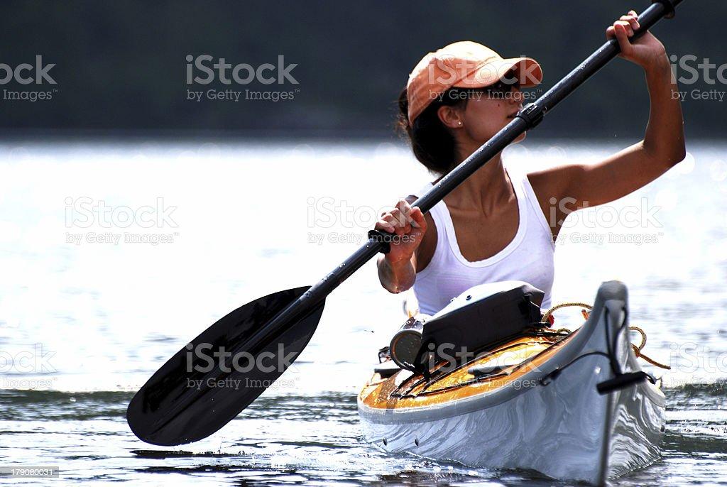 Paddling Calm Waters stock photo