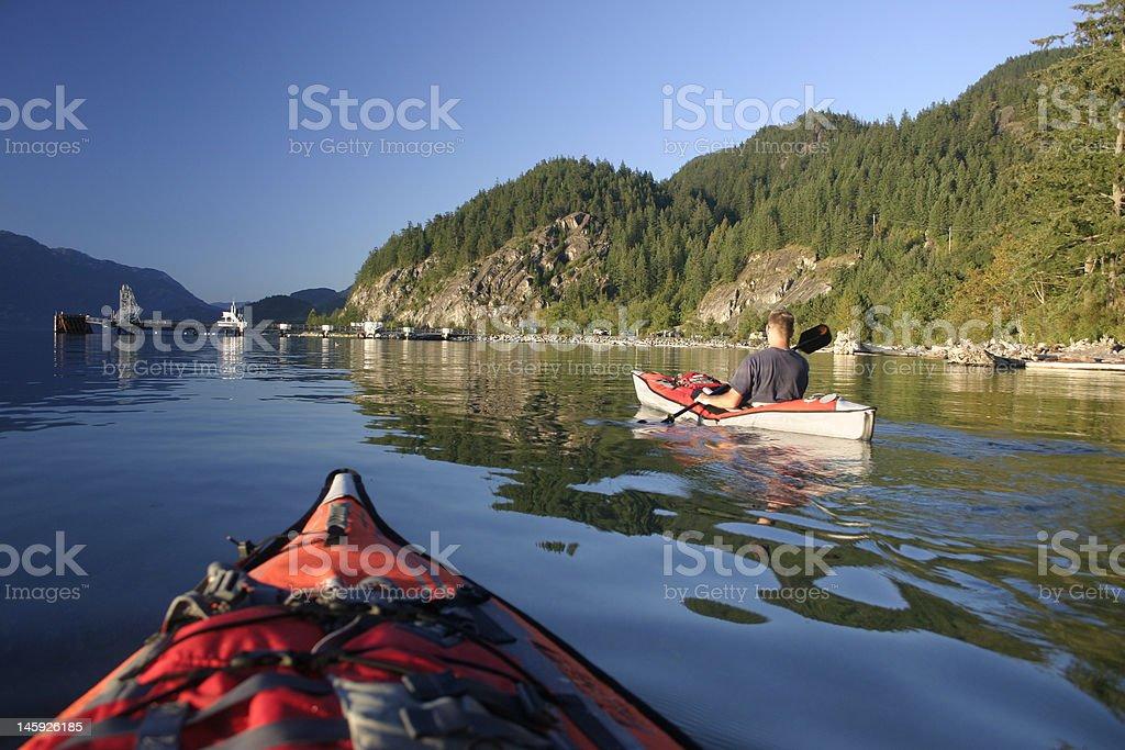 Paddling Canada royalty-free stock photo