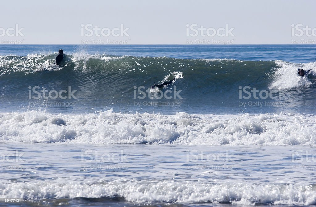 Paddling For The Wave royalty-free stock photo
