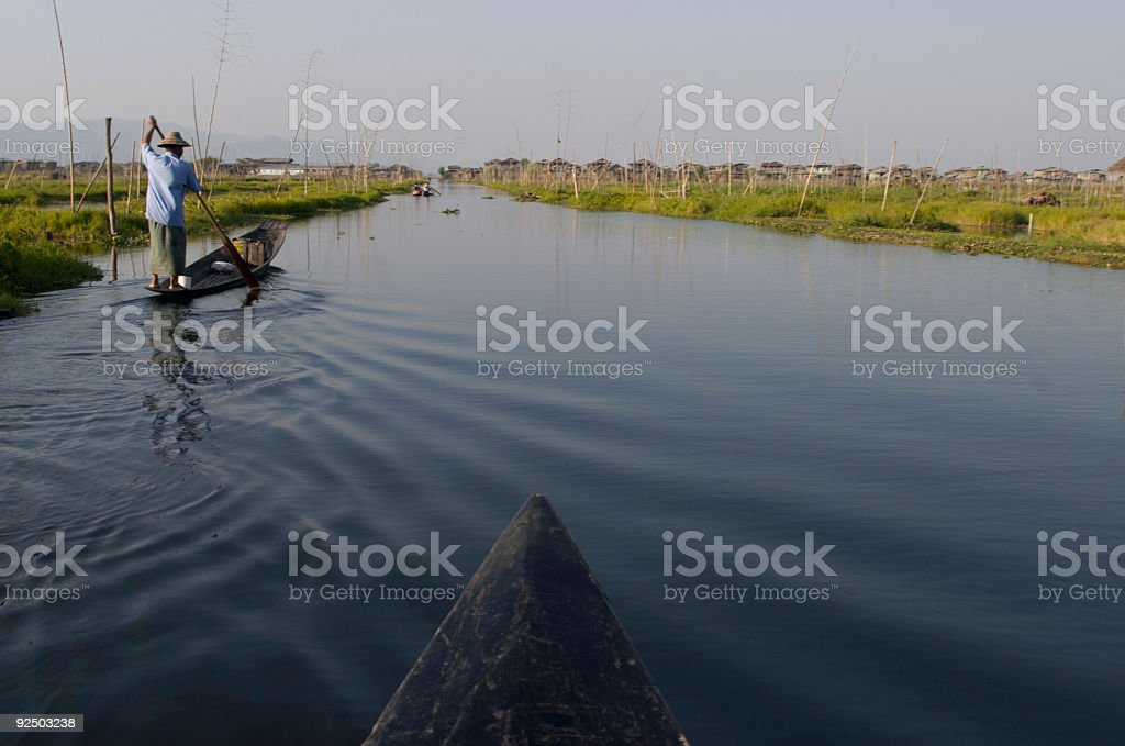 Paddling Home royalty-free stock photo