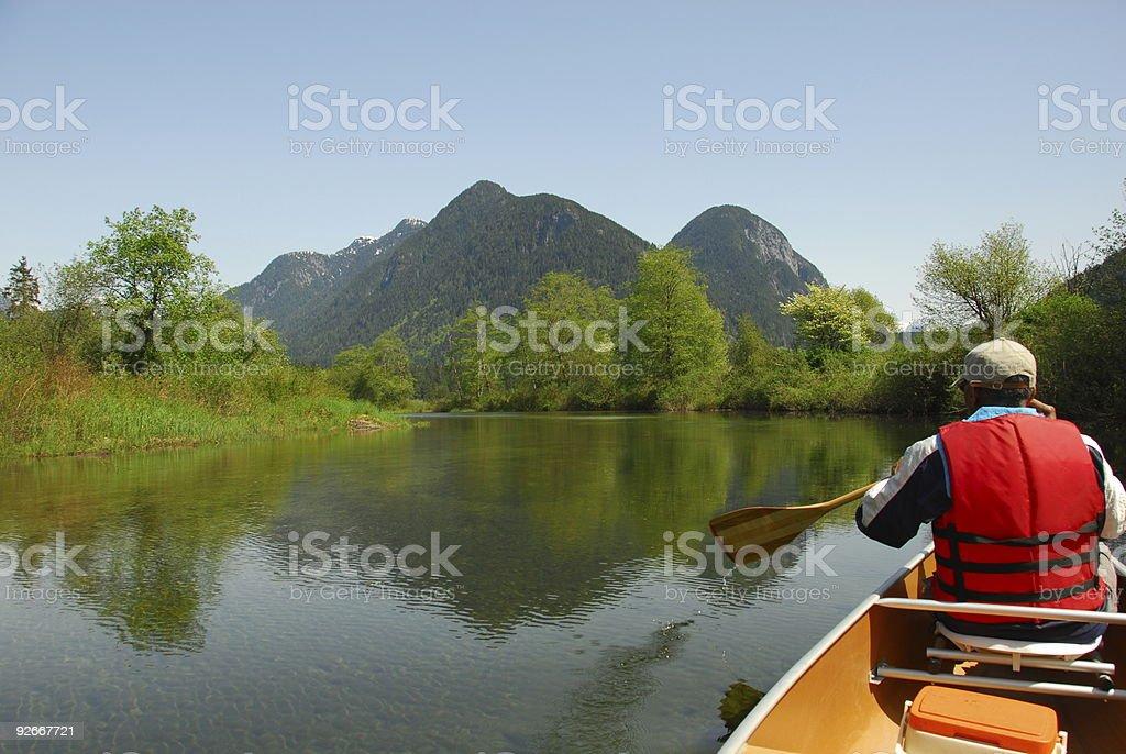 Paddling in Paradise royalty-free stock photo
