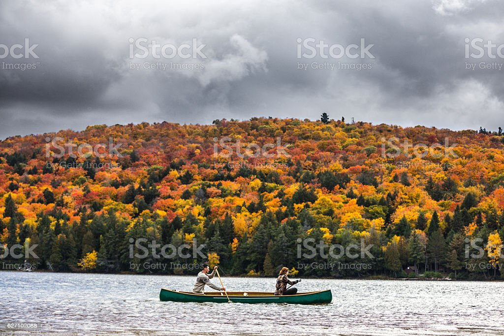 Paddling in the wonder of nature in Canada stock photo