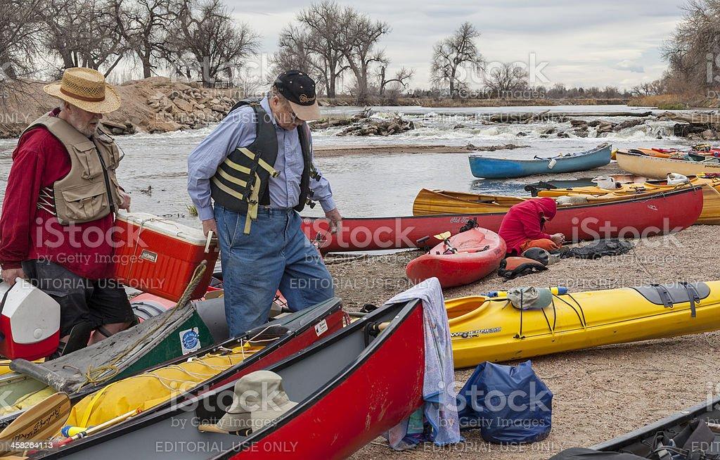 paddling lunch break royalty-free stock photo