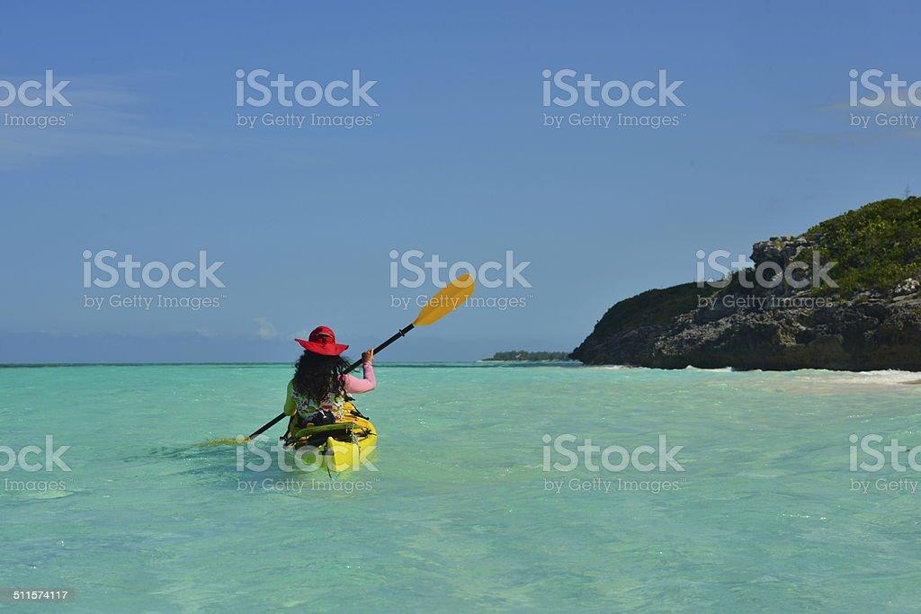 Paddling Paradise stock photo