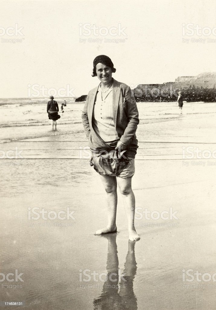 Paddling Toes in the Sea royalty-free stock photo