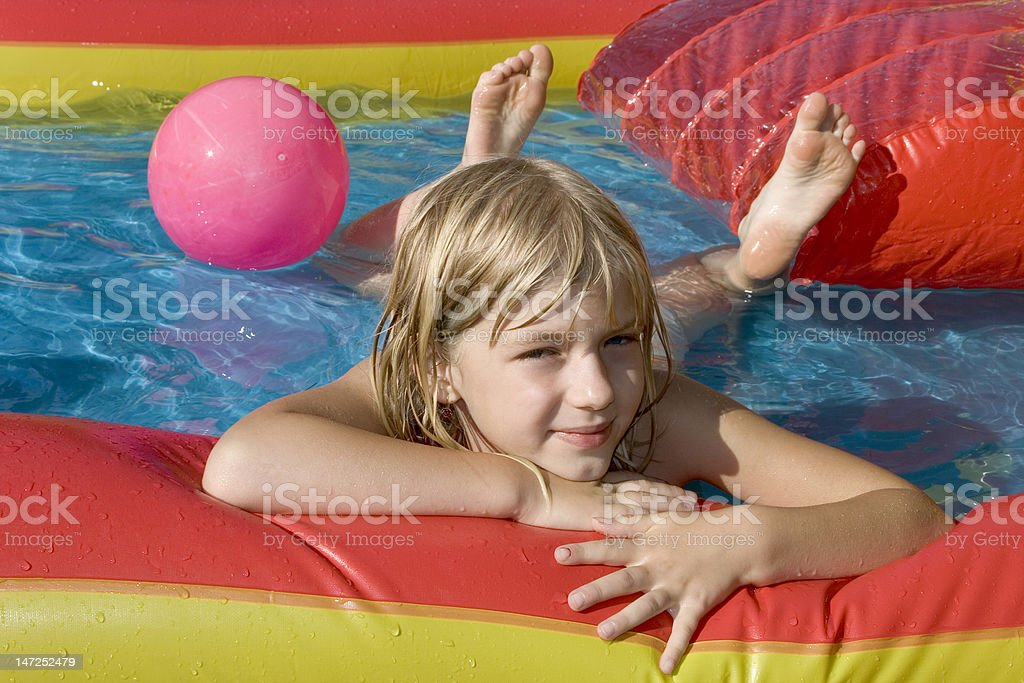 Paddling-pool stock photo