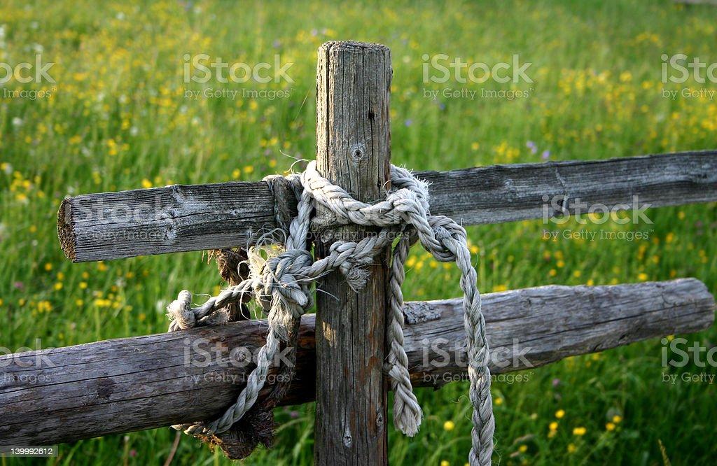 Paddock fence royalty-free stock photo