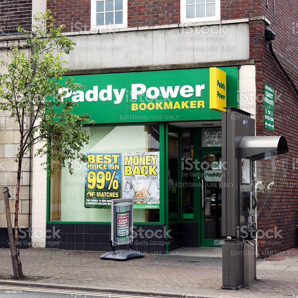 Paddy Power bookmaker's shop royalty-free stock photo