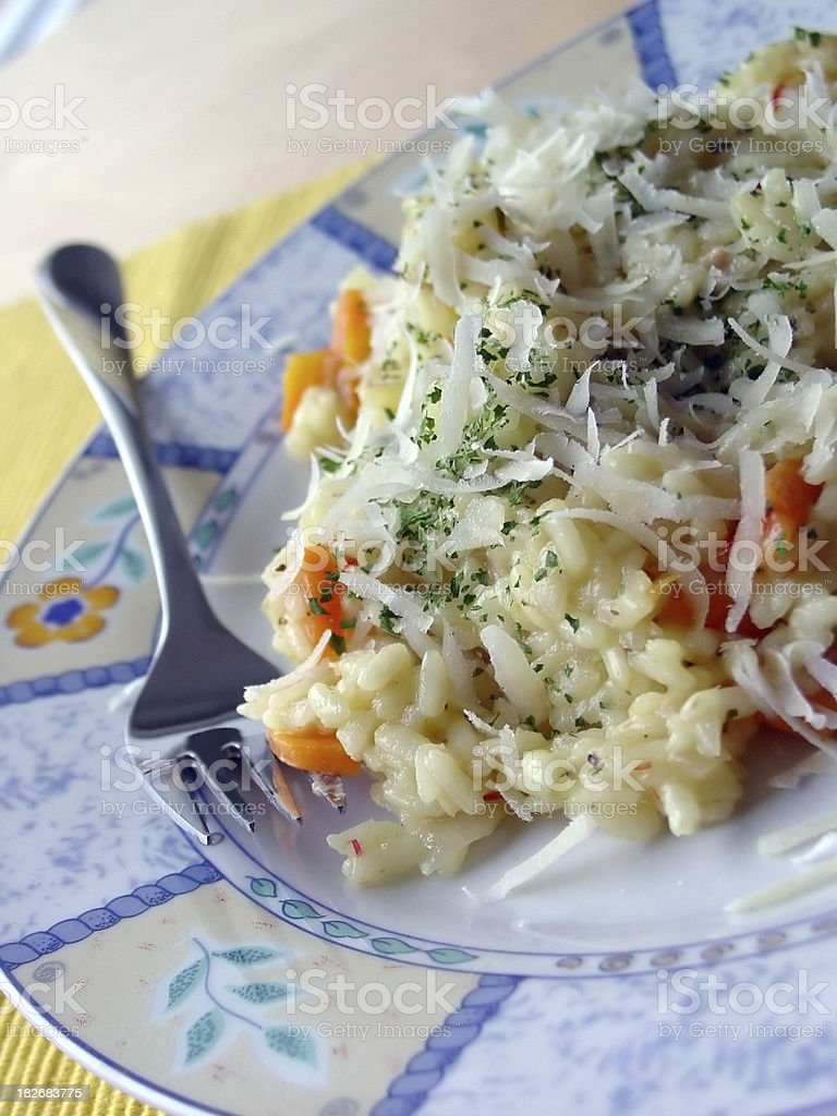 Paddy Risotto on plate royalty-free stock photo