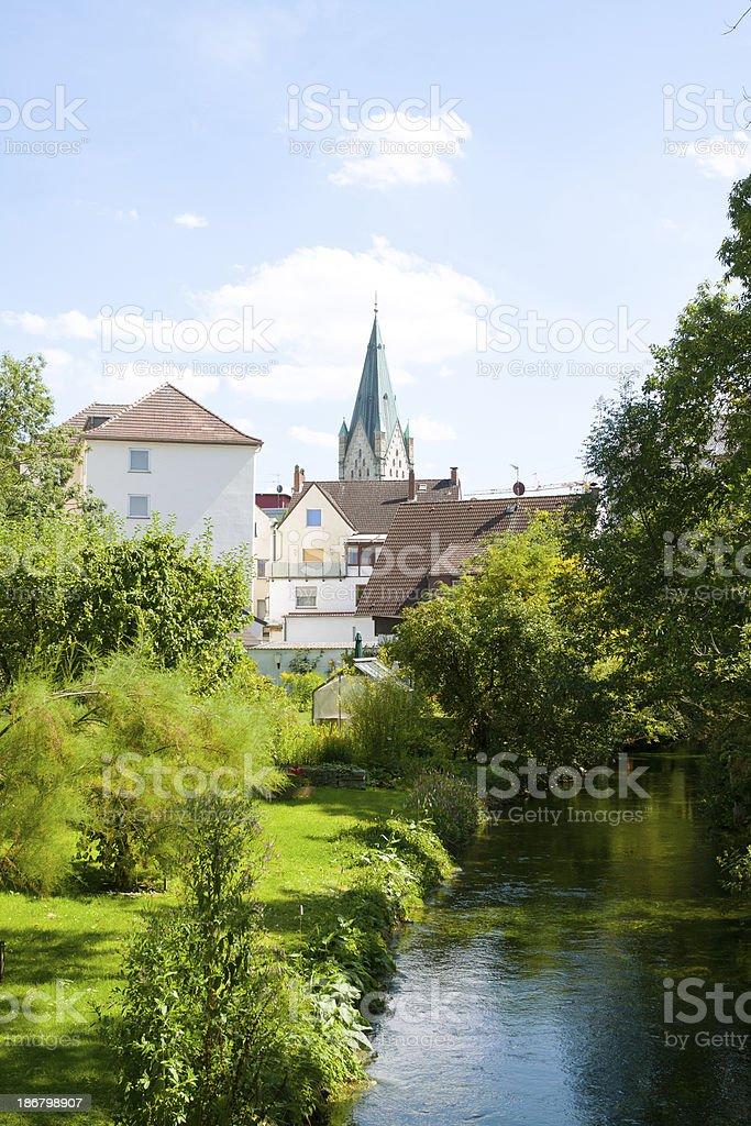 Pader and Paderborn stock photo