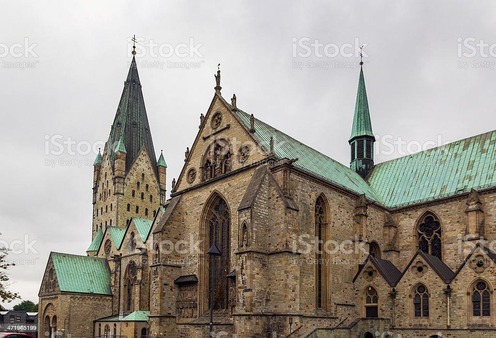 Paderborn Cathedral,  Germany stock photo