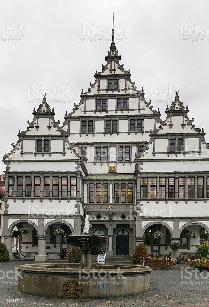 Paderborn town hall, Germany stock photo