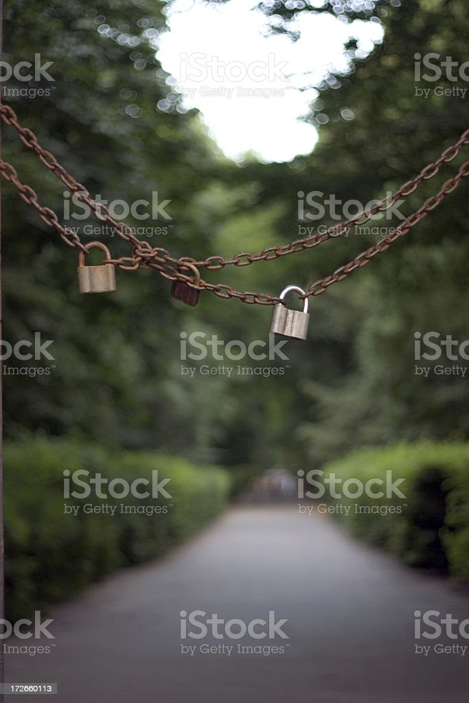 Padlock and chain royalty-free stock photo