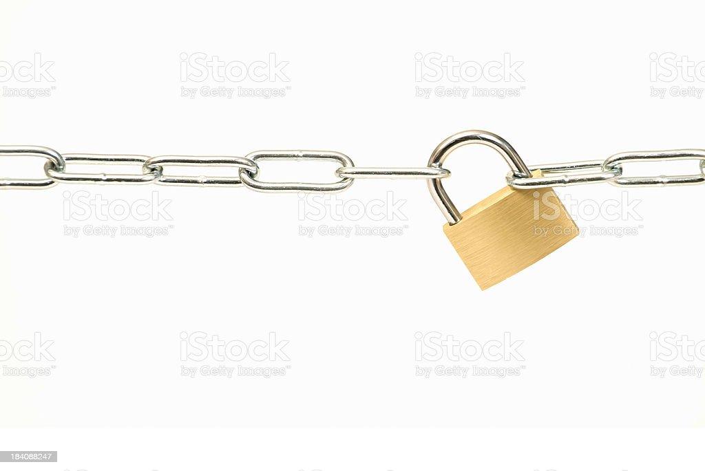Padlock and Chain royalty-free stock photo