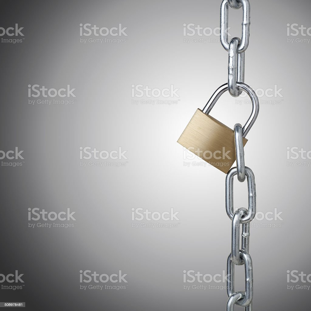 padlock and chains stock photo