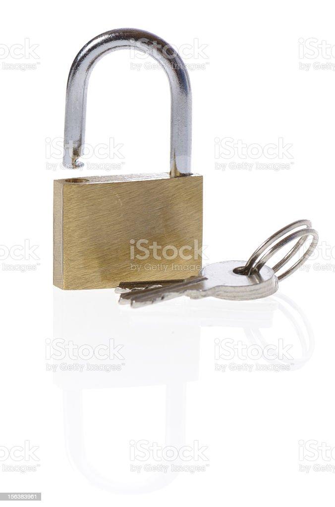 padlock and keys royalty-free stock photo