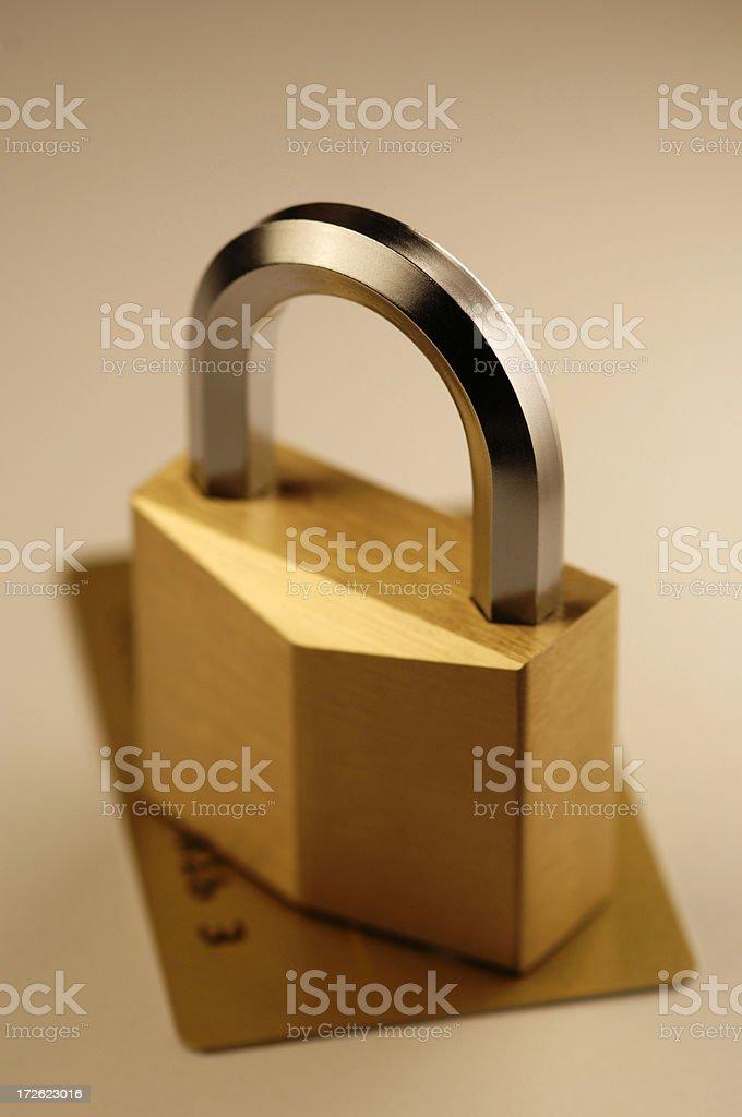 padlock and security card royalty-free stock photo