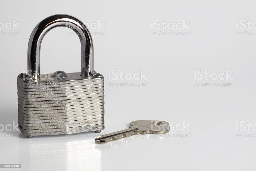 Padlock & Key royalty-free stock photo