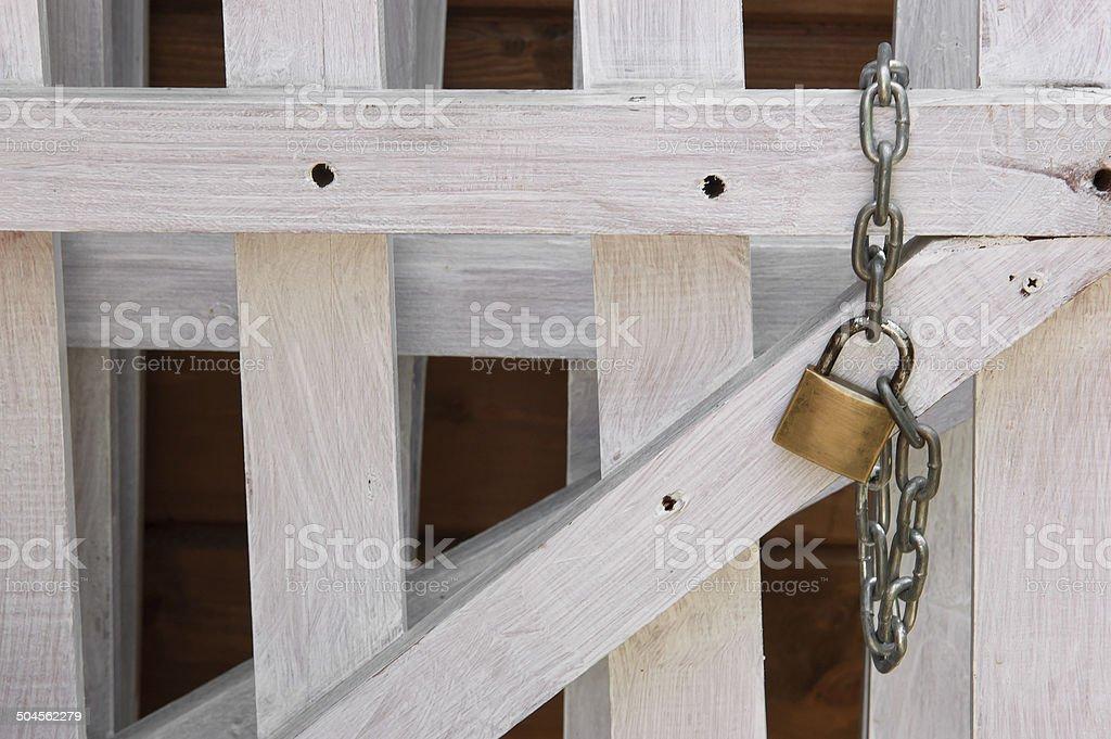 Padlock on the Fence royalty-free stock photo